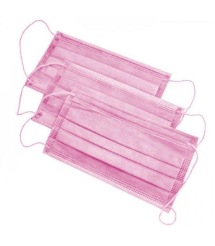Маска медицинская одноразовая Розовая