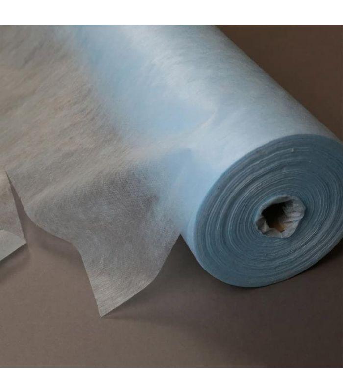 Голубая простынь в рулоне200x700