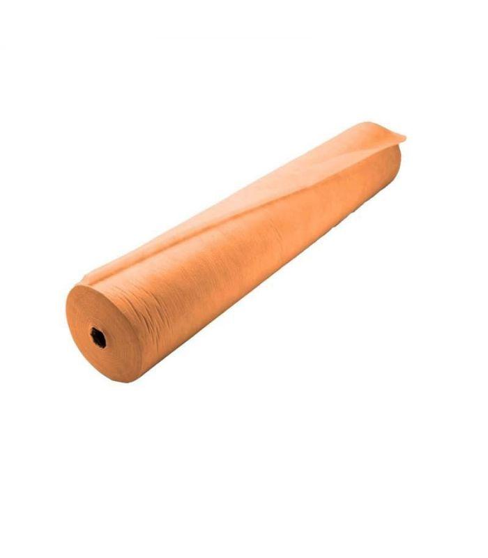 Оранжевая простынь в рулоне