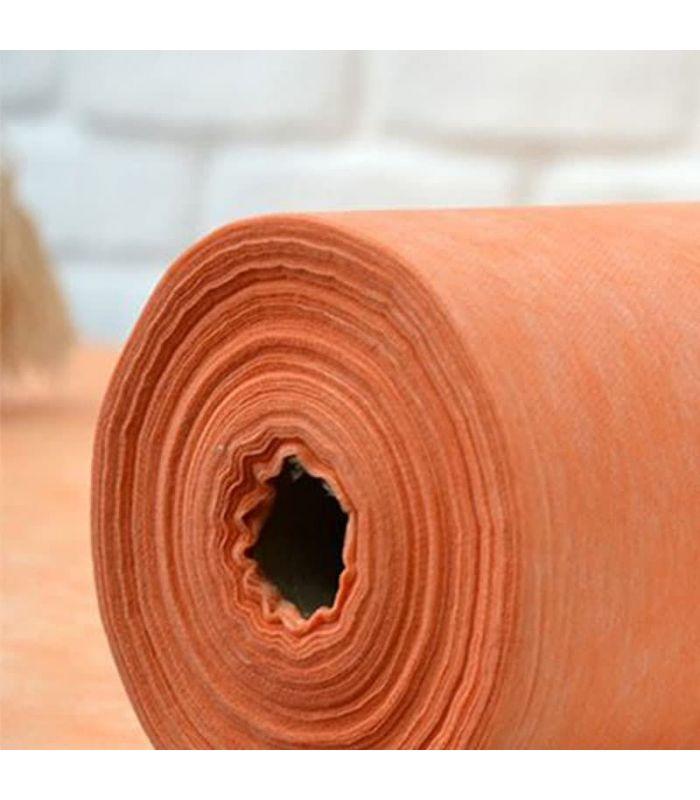 Оранжевая простынь в рулоне для шугаринга