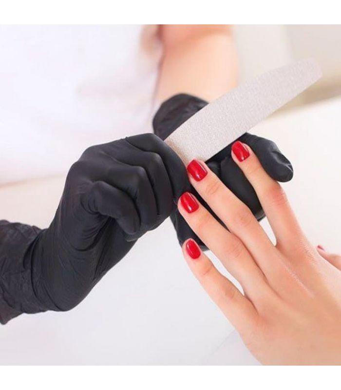 Нитриловые перчатки черного цвета