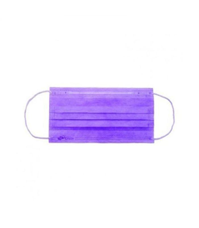 Маска медицинская одноразовая Фиолетовая